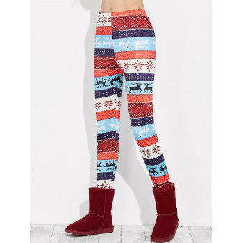 Leggings de Noël à motifs de flocons de neige - multicolor XL