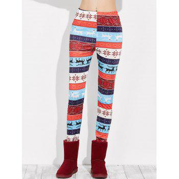 Snowflake Christmas Leggings - MULTI S