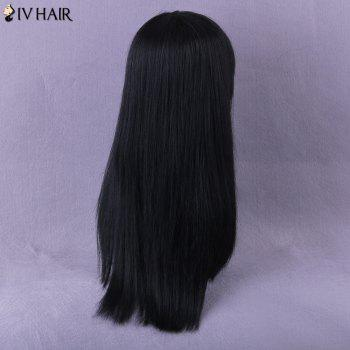 Neat Bang Long Natural Straight Siv Human Hair Wig -  AUBURN BROWN