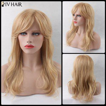Wavy Shaggy Side Bang Long Siv Human Hair Wig