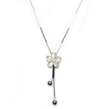 Rhinestone Frangipani Flower Necklace