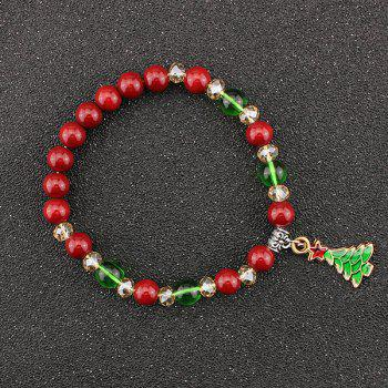 Christmas Tree Star Charm Beads Bracelet