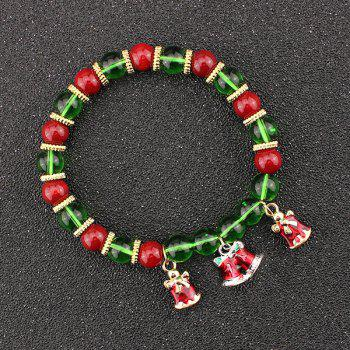 Christmas Bells Bows Beaded Bracelet