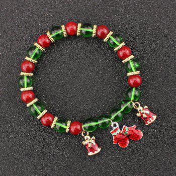 Christmas Bells Gloves Charm Beads Bracelet