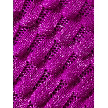 Crochet Knit Mermaid Blanket Throw For Kids -  BRIGHT PINK