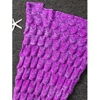 Crochet Knit Mermaid Blanket Throw For Kids -  WILD BERRY