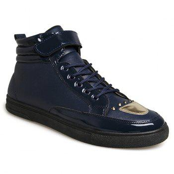 Rivet PU Leather High Top Shoes