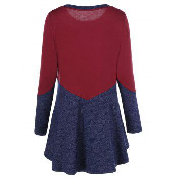 Patchwork Heather T-Shirt - RED M