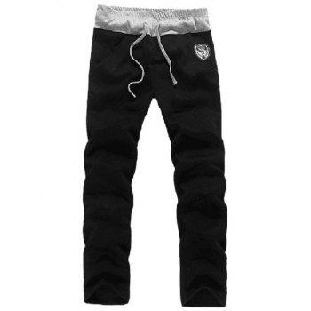 Zip Up Patch Hoodie et Sweatpants Twinset - Noir L
