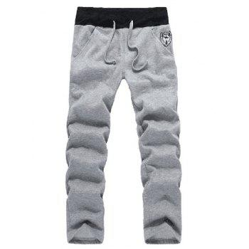 Zip Up Patch Hoodie and Sweatpants Twinset - 2XL 2XL