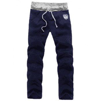 Zip Up Patch Hoodie and Sweatpants Twinset - CADETBLUE L