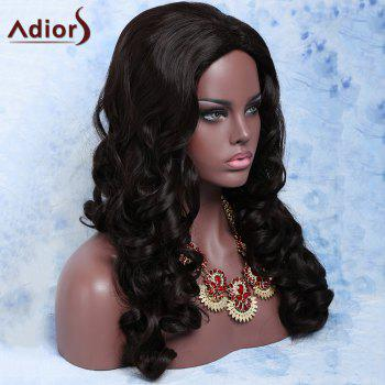 Charming Synthetic Women's Deep Brown Long Fluffy Big Curly Wig - DEEP BROWN