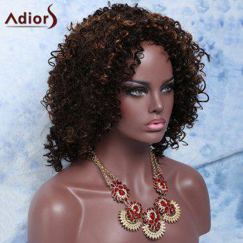 Colormix Medium Side Parting Curly Synthetic Hair Wig - COLORMIX