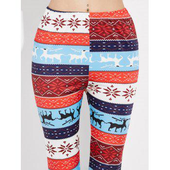 Leggings de Noël à motifs de flocons de neige - multicolor S