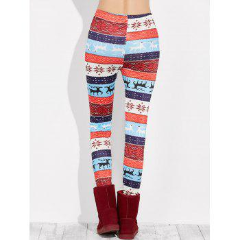 Snowflake Christmas Leggings - multicolor S