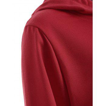 Plus Size Arrows Print Pullover Hoodie - WINE RED 2XL