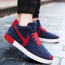 Suede Color Splice Mid Top Skate Shoes