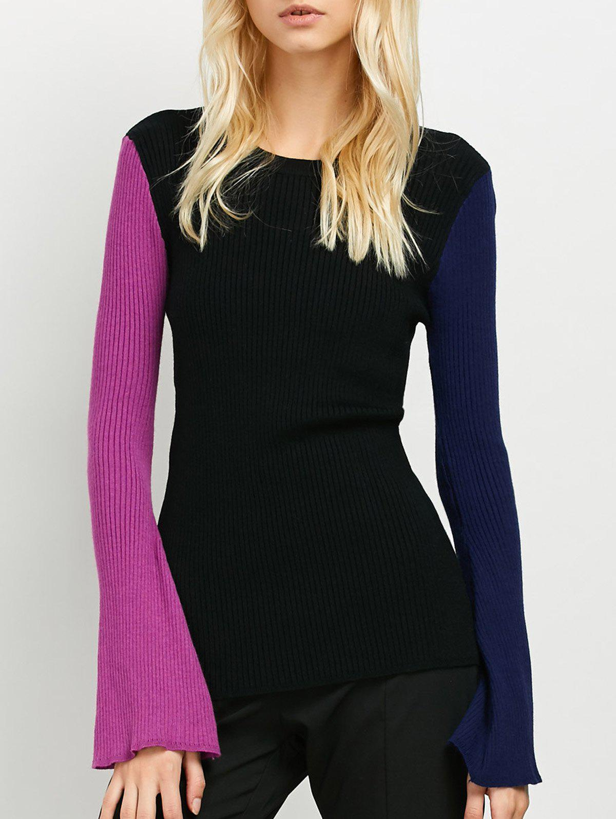 Ribbed Color Block Sweater ribbed color block sweater