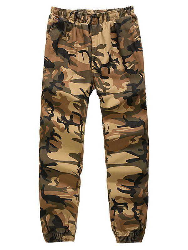 Camouflage Elastic Waist Beam Feet Nine Minutes of Jogger Pants doershow italian shoes with matching bags for party high quality african shoes and bags set for wedding shoe and bag bb1 31