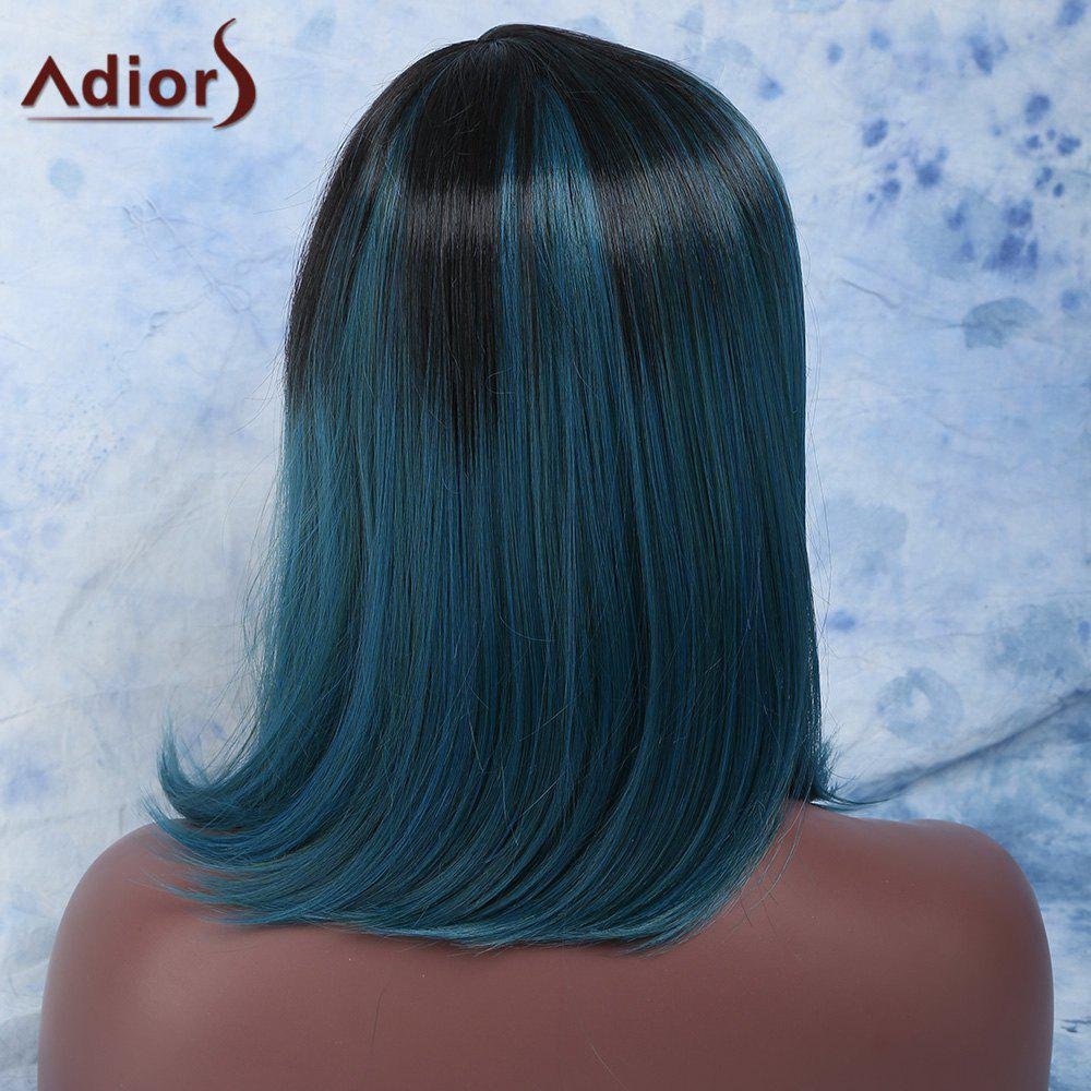Attractive Medium Straight Side Parting Mixed Color Synthetic Wig - COLORMIX