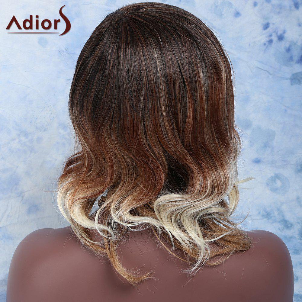 Fashion Women's Medium Mixed Color Wavy Side Parting Synthetic Hair Wig - COLORMIX