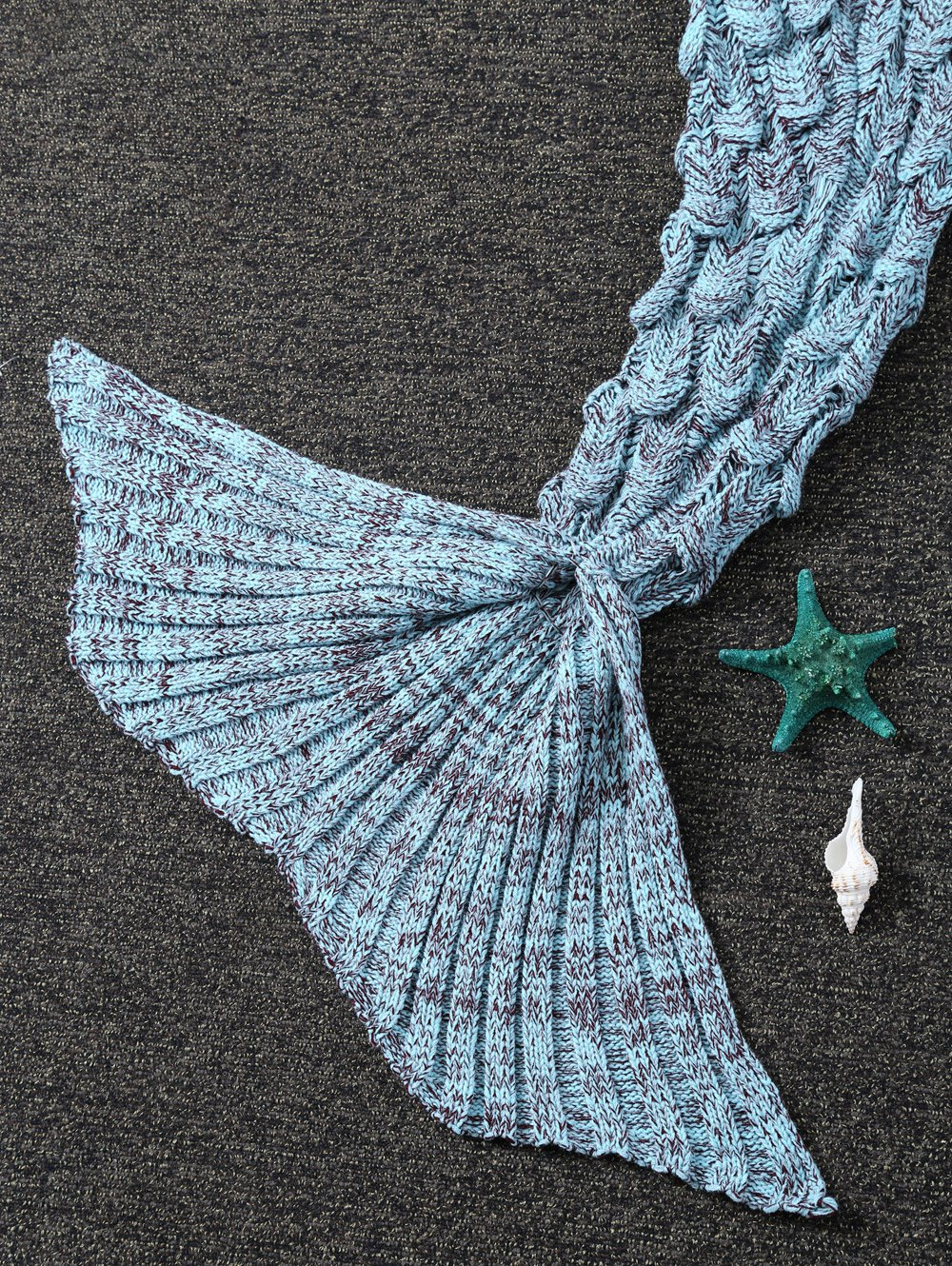Crochet Knit Mermaid Blanket Throw For Kids - CLOUDY