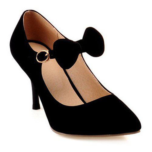 Stiletto Heel Pointed Toe Bow Pumps