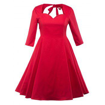 Plus Size Hollow Out Swing Dress
