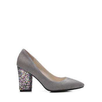 Pointed Toe Glitter Sequined Pumps