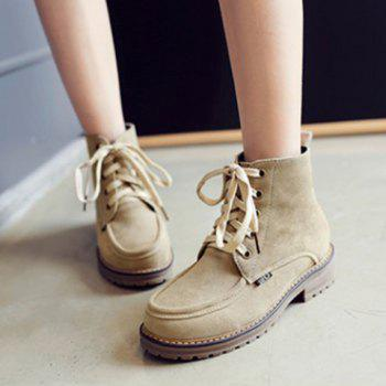 Lace Up Vintage Ankle Boots - 39 39