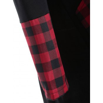 Asymmetrical Plaid Insert Overlap Tee - 2XL 2XL