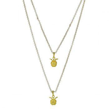 Double Layered Pendant Necklace - GOLDEN GOLDEN