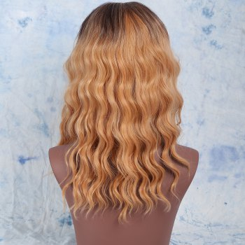 Medium Middle Part Wavy Synthetic Wig -  COLORMIX