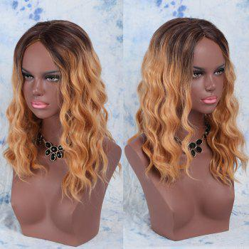 Medium Middle Part Wavy Synthetic Wig - COLORMIX COLORMIX