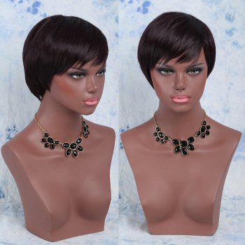 Short Side Bang Spiffy Straight Synthetic Wig