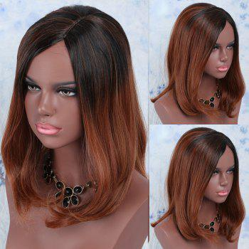 Medium Colormix Side Parting Straight Synthetic Wig