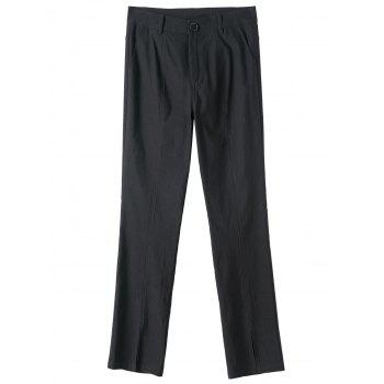 Plus Size Plain Pants with Pockets
