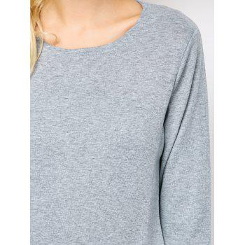 Side Zip Long Sleeve Tee - L L