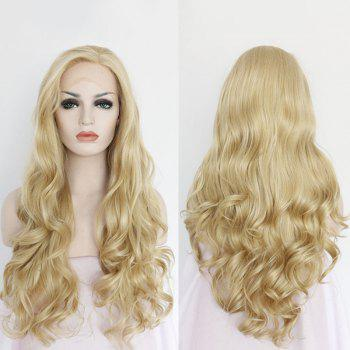 Sparkling Long Wavy Side Parting Lace Front Synthetic Wig