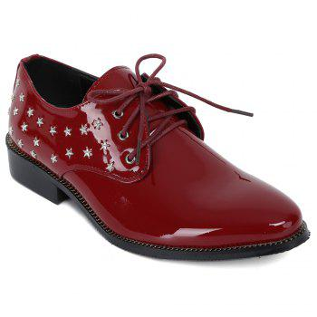 Fashion Rivets and Patent Leather Design Formal Shoes For Men