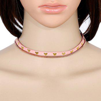 PU Leather Heart Vintage Choker Necklace