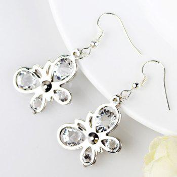 Butterfly Shaped Rhinestone Earrings