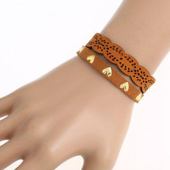 PU Leather Heart Pattern Bracelet