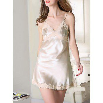 Satin Cami Slip Sleep Dress