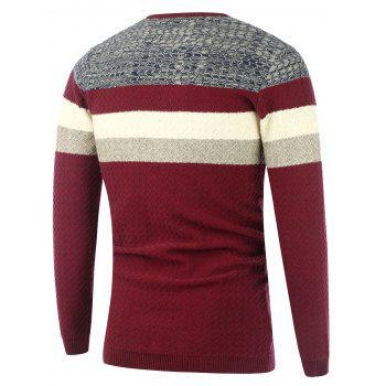 Wavy Stripes Knitted Color Matching Sweater - XL XL