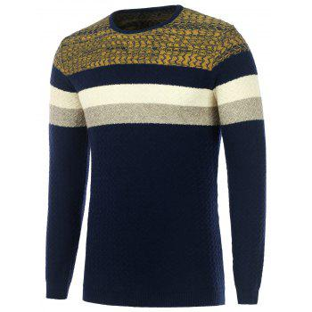 Wavy Stripes Knitted Color Matching Sweater