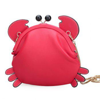 Crab Shape Kiss Lock Crossbody Bag