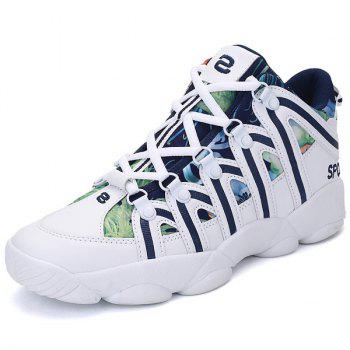Printed Panel Zig Zag Athletic Shoes