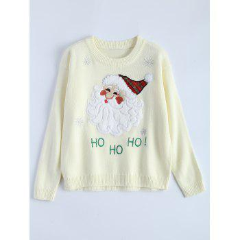 Crew Neck Santa Clause Christmas Sweater