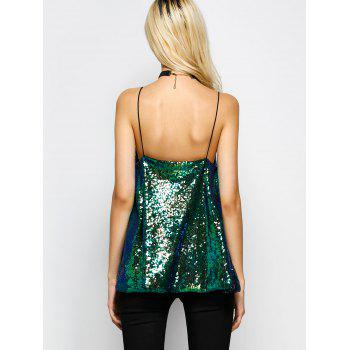 Cami Sequined Loose Tank Top - 2XL 2XL
